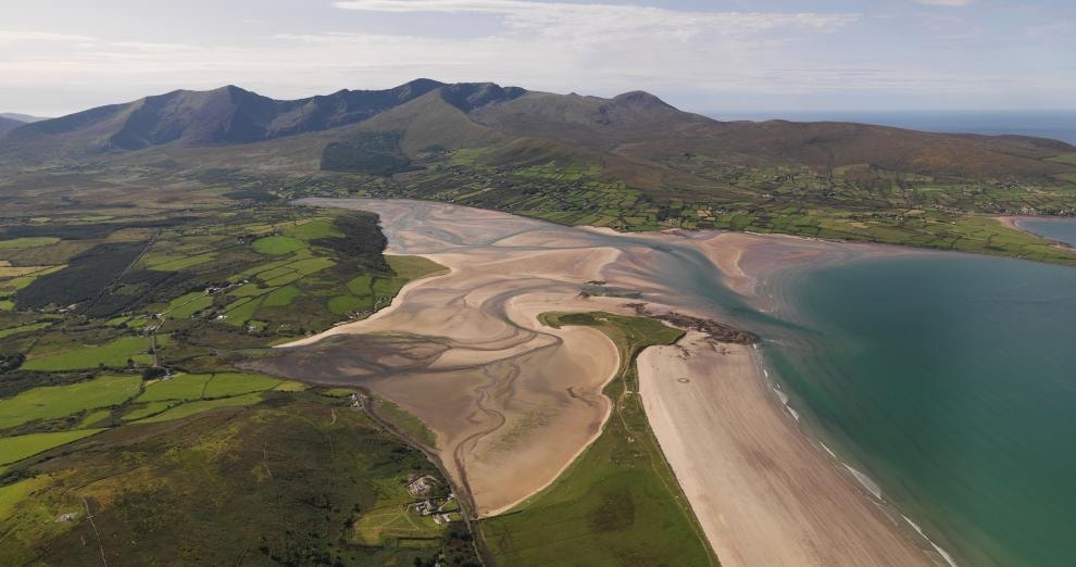 Brandon Mountain Range and Bay Area, Dingle Peninsula near Tralee in Co. Kerry.