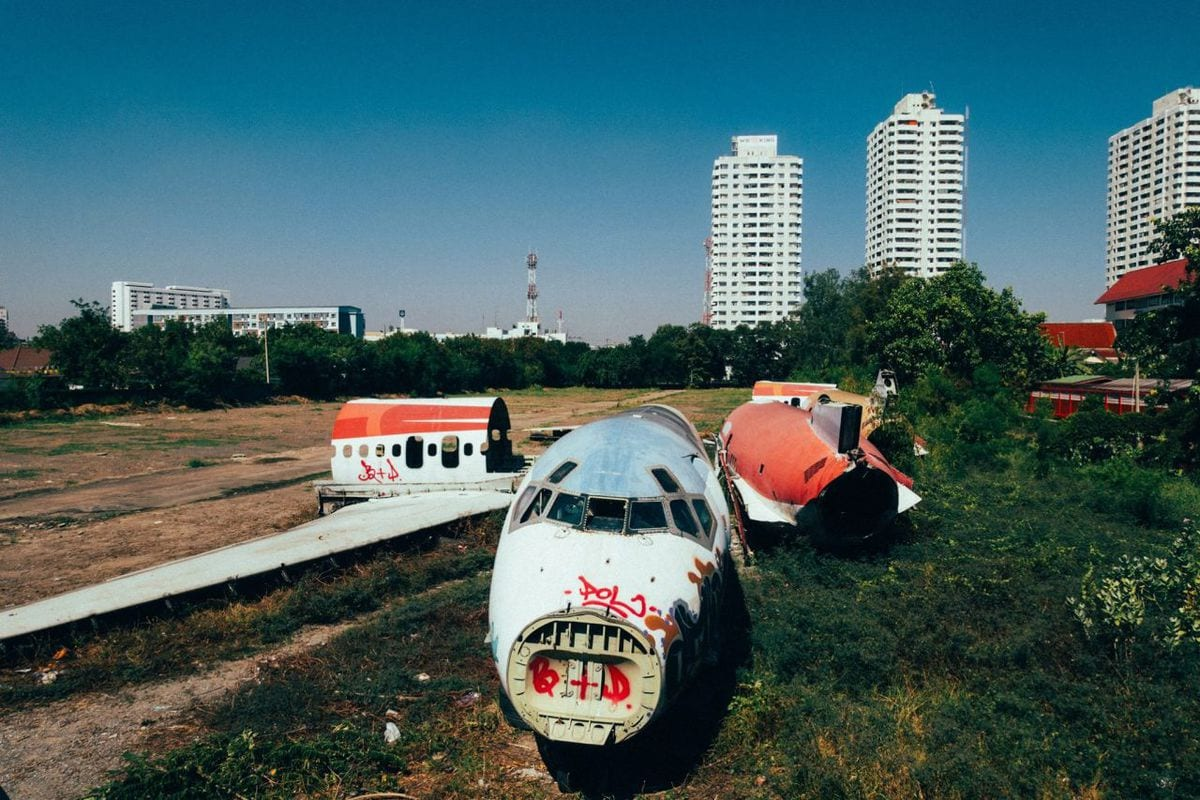 Abandoned Airplane Bangkok